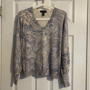 Lauren Ralph Lauren Petite Paisley Print Sweater